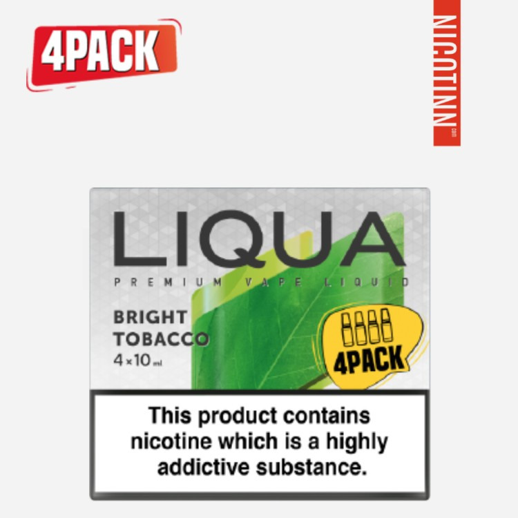 LIQUA ELEMENTS ELIQUID BRIGHT TOBACCO 4PACK