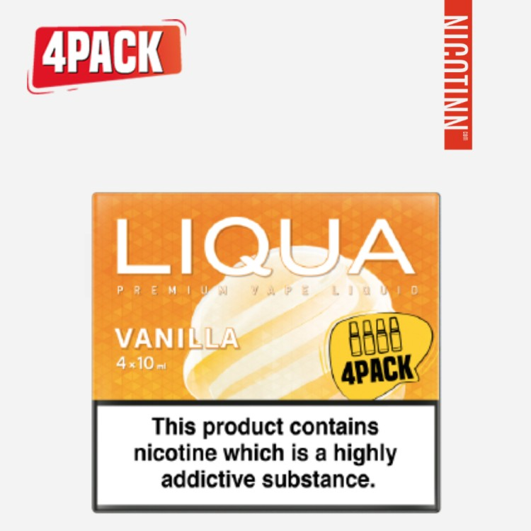LIQUA ELEMENTS ELIQUID VANILLA 4PACK