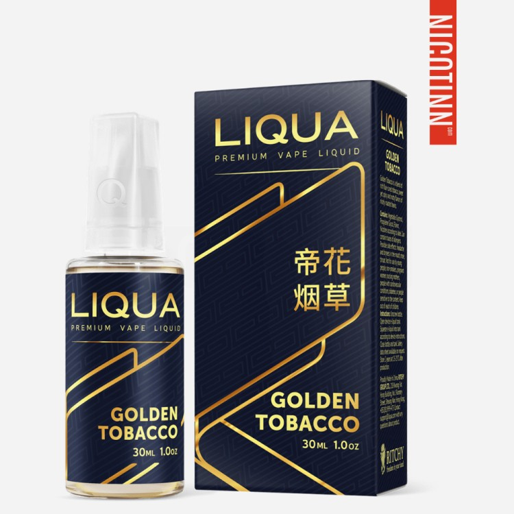 LIQUA SPECIAL ELIQUID GOLDEN TOBACCO 30ML/ZERO