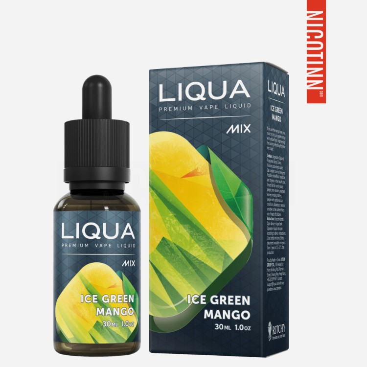 LIQUA GLASS ELIQUID ICE GREEN MANGO 30ML