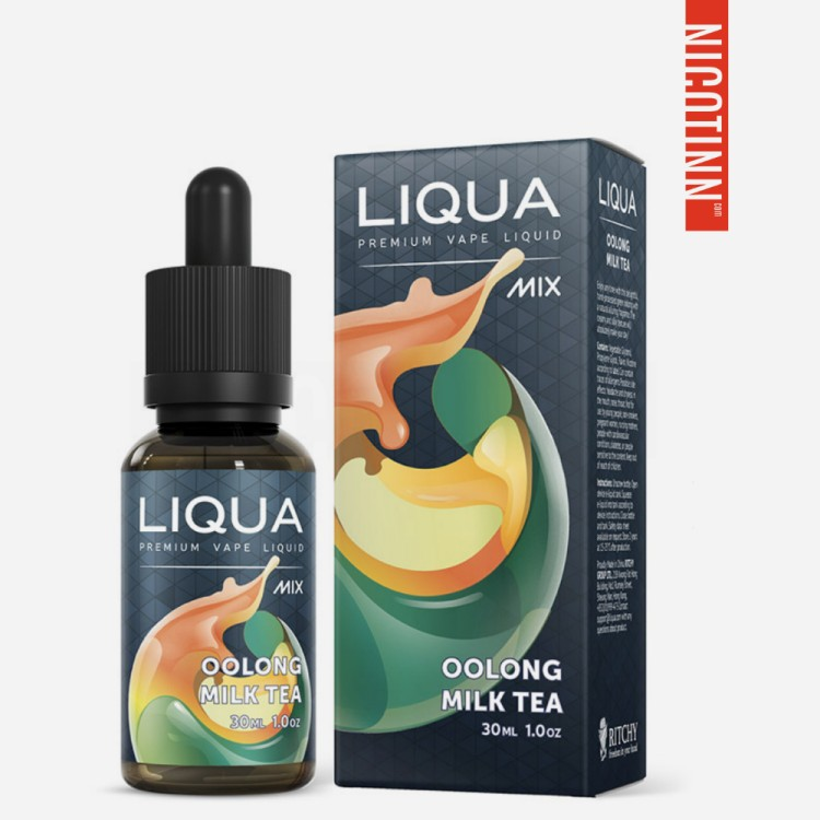 LIQUA GLASS ELIQUID OOLONG MILK TEA 30ML