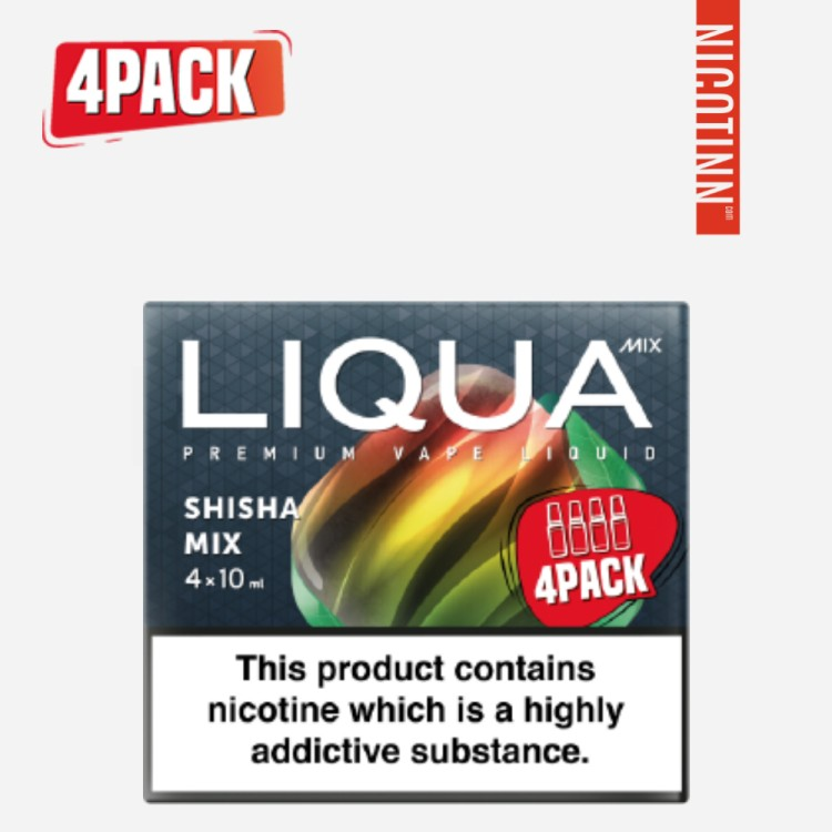 LIQUA MIX ELIQUID SHISHA MIX/TWO APPLES 4PACK